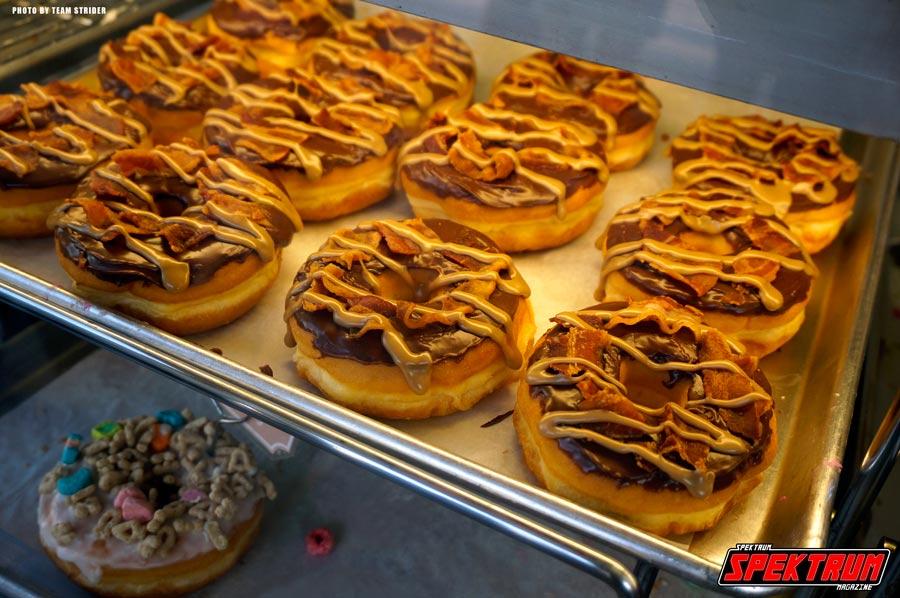 Maple Bacon donuts. Very delicious!