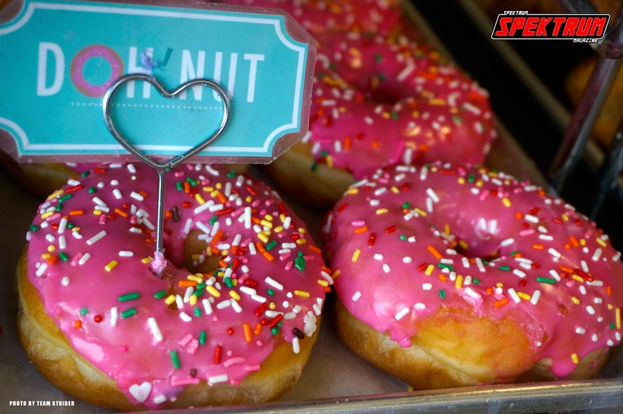 Traditional sprinkle donuts. Gotta love that Simpsons theme