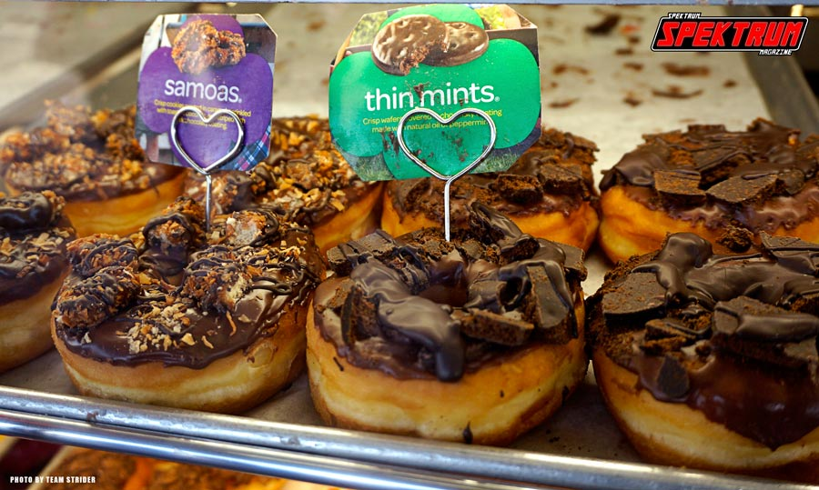 Girl Scout Cookie Donuts. Pure sexiness!!