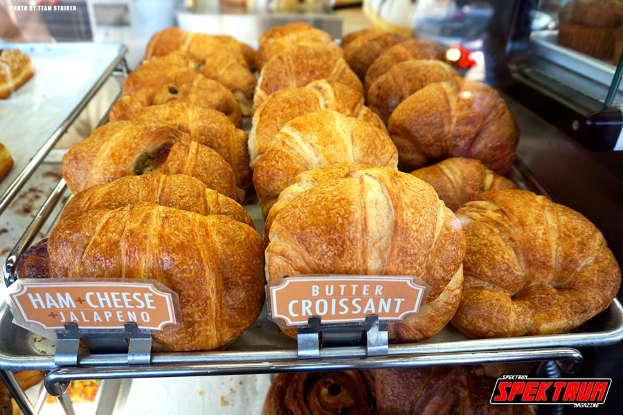 Besides donuts, they also serve Croissants and Muffins. Yum!