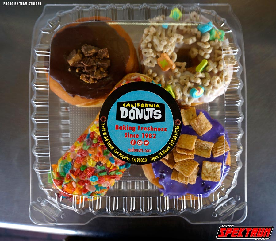 When you get your donuts, they come in this case. Very snazzy