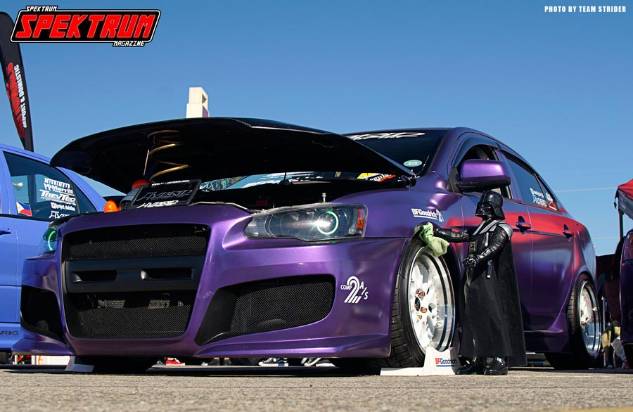 Love this Mitsubishi and the fact that the Dark Lord himself is keeping it clean :)