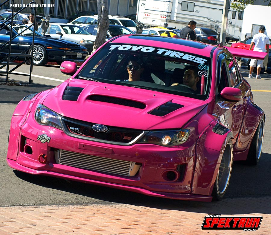 Modded Subaru STI at Hot Import Nights San Pedro