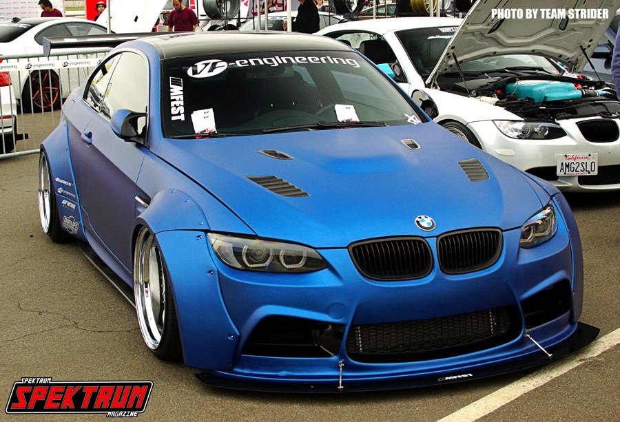 Blue BMW at Bimmerfest 2015