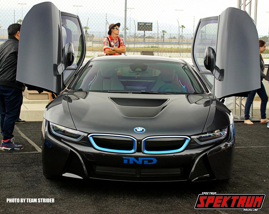 BMW I8 with its doors raised