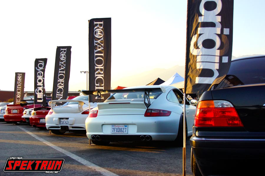 Team Royal Origin all lined up and showing off at Formula Drift Irwindale