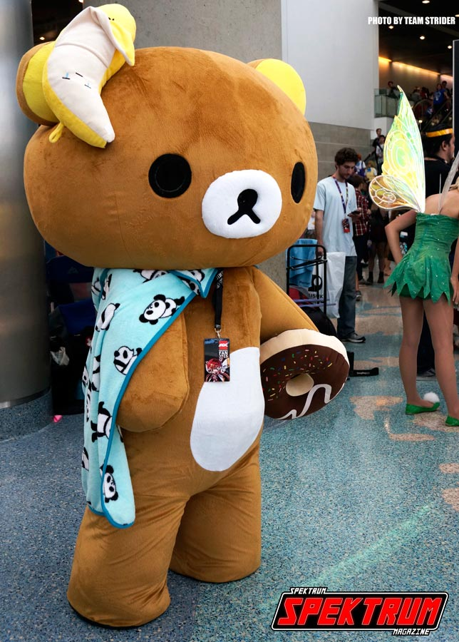 Cuteness to another level. Love this bear from Anime Expo 2015