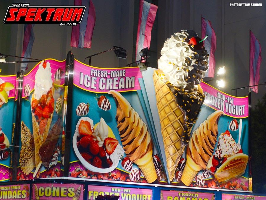 Ice cream and desserts at the OC Fair