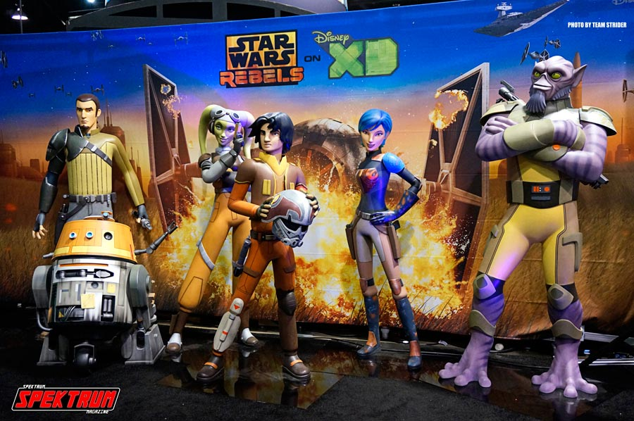 Mockup of some of the main characters from the upcoming Star Wars:Rebels TV Show