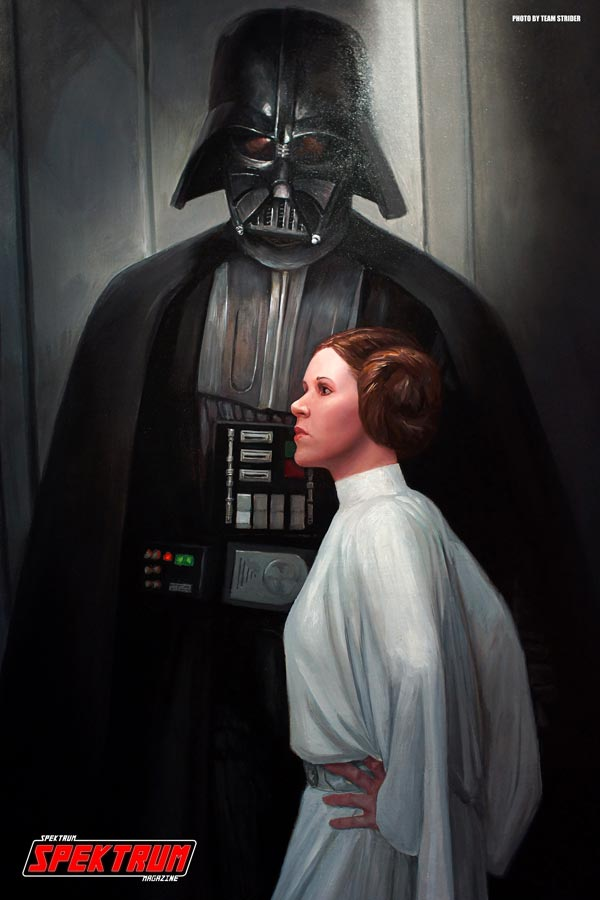 Beautiful painting of Lord Vader and Leia