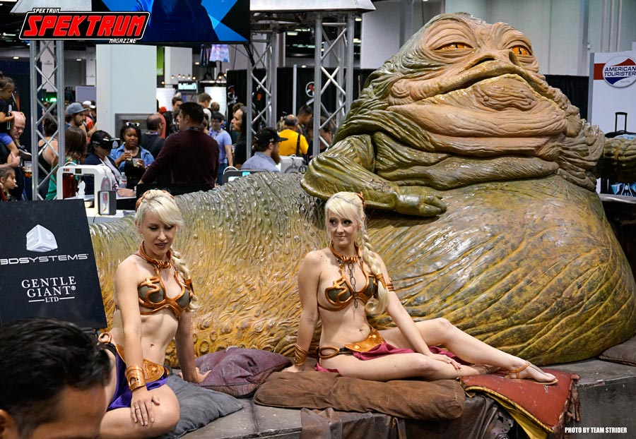 A full-size Jabba the Hut and Slave Leia's even made an appearance