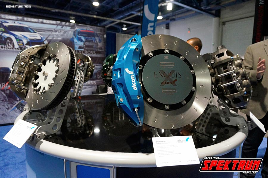 Just some of the many products on display at the show. Alcon Big Brake Kits