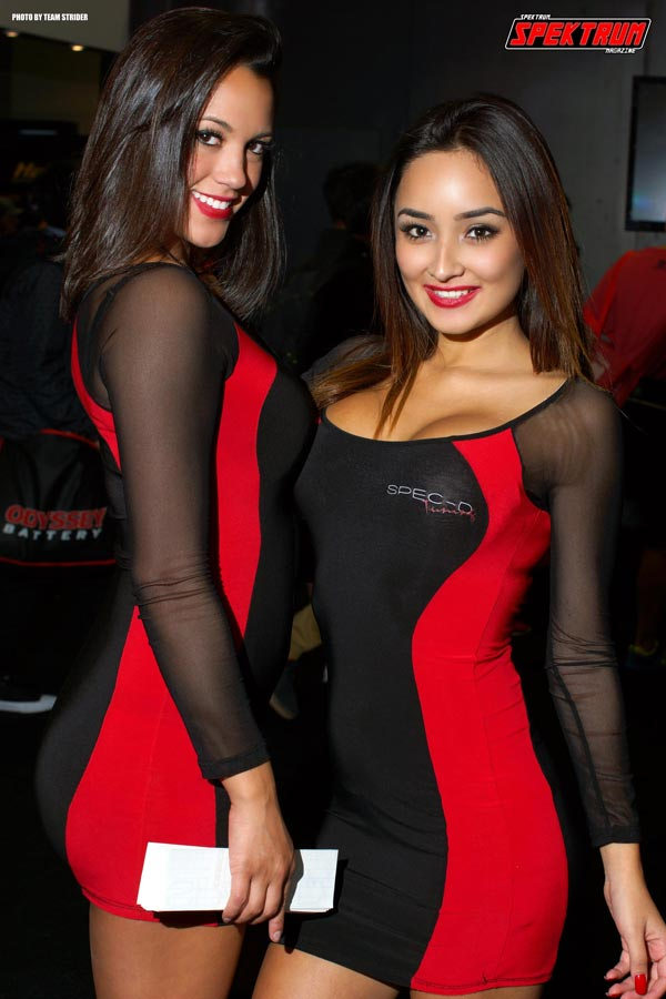 Beautiful Hanna and friend at the Spec-D booth