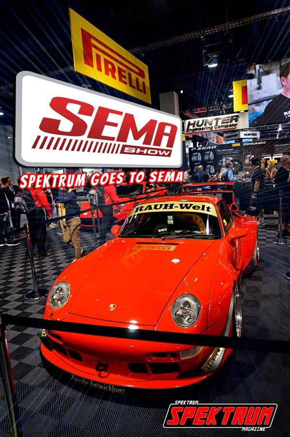 Beautiful Porsche at the Pirelli Tires booth @ SEMA