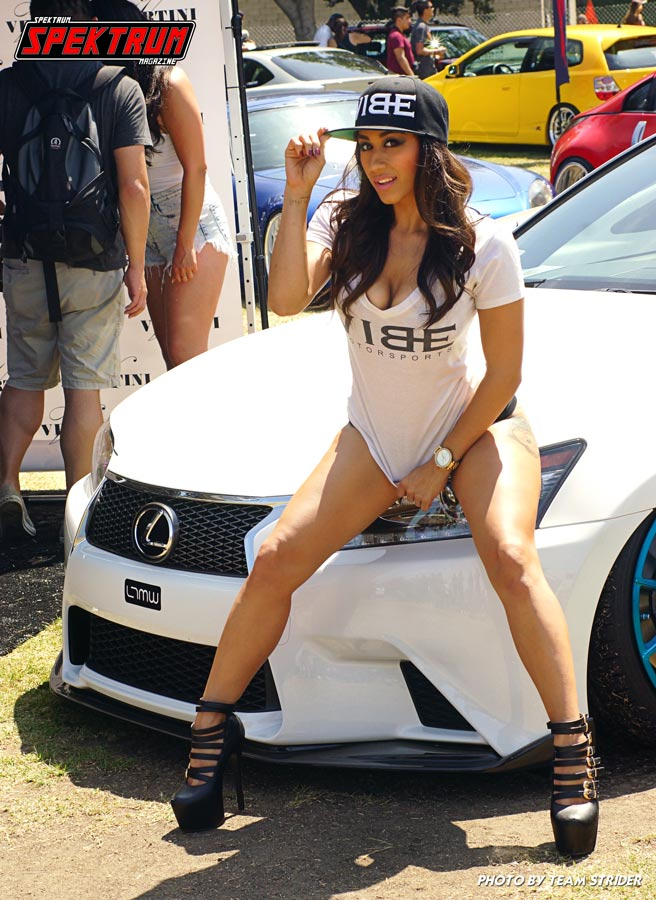 Lovely model from Vibe Motorsports posing with a Lexus