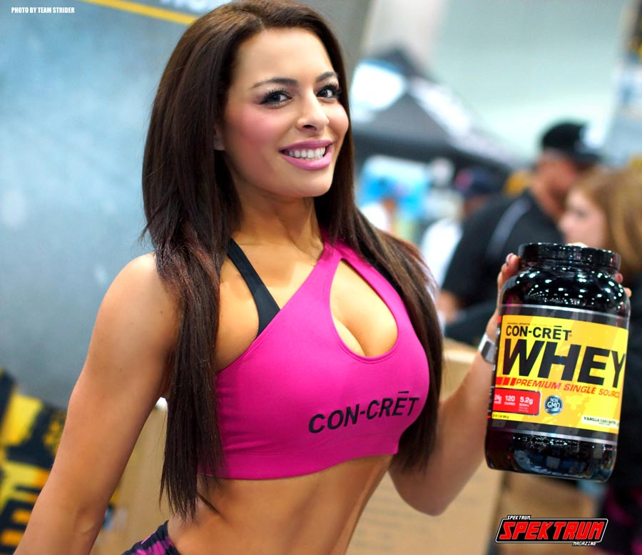 The lovely spokesmodel from Con-Cret Supplements