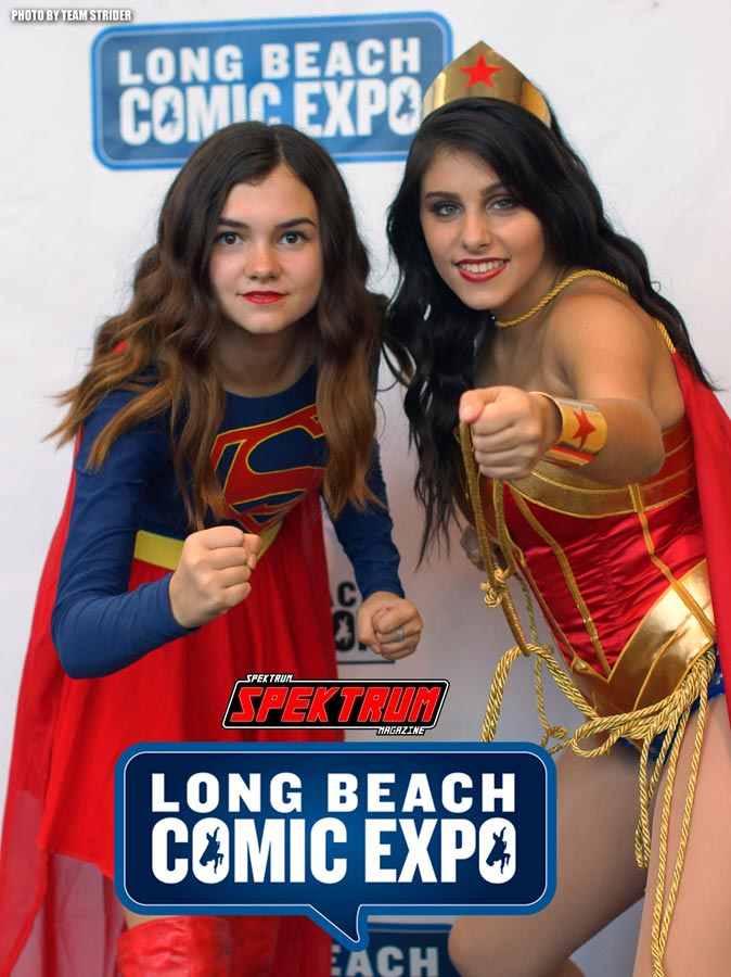 Supergirl and Wonderwoman at the Long Beach Comic Expo