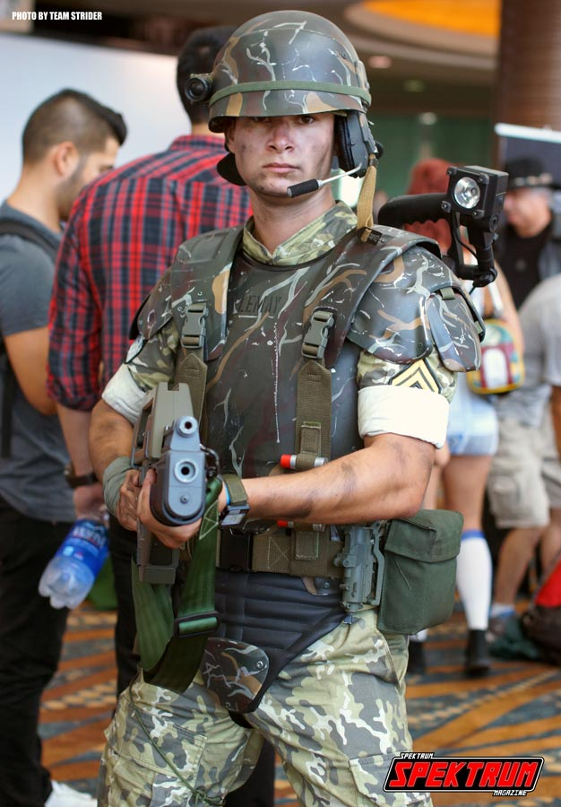 Colonial Marines cosplayer at the LBCE