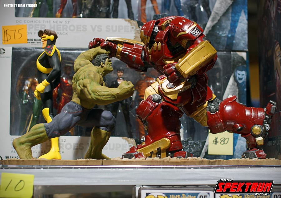 The Hulk and Ironman going head to head