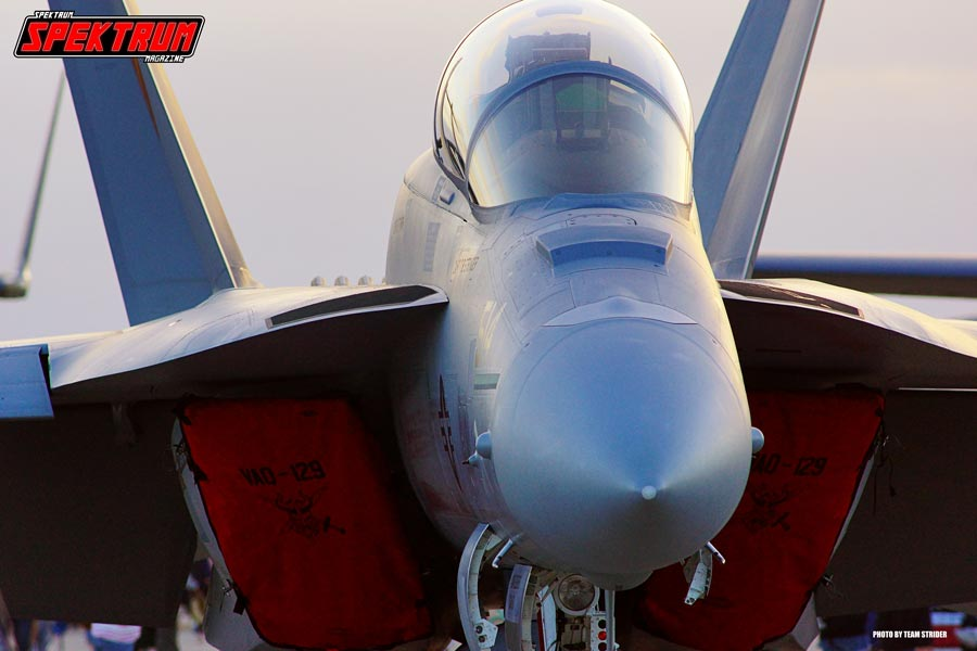 The Super Hornet at rest