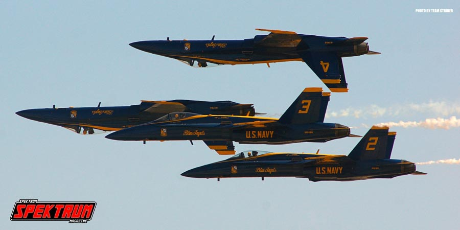 The Blue Angels tearing up the air space