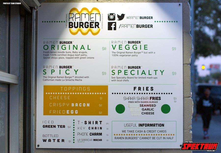 Original Ramen Burger Sign