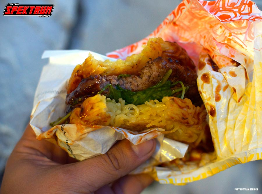 That first bite into the Spicy Ramen Burger. Pure bliss!