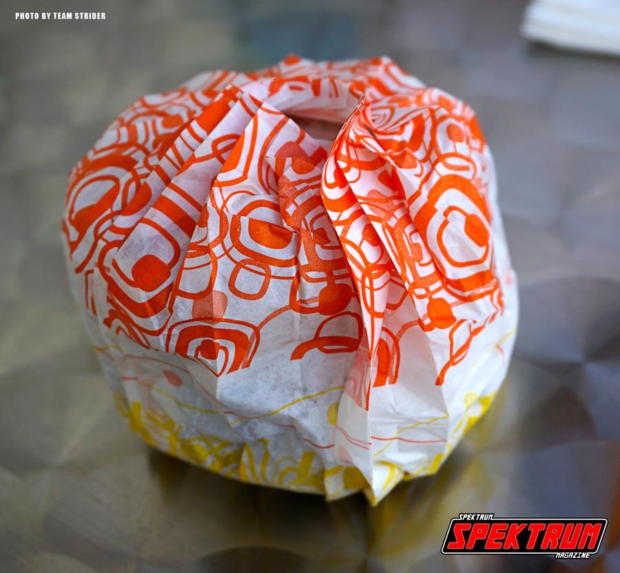 The wrapper the Ramen Burger comes in. Super Kawaii!!