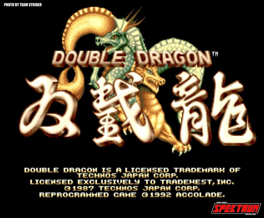 Double Dragon Main Screen
