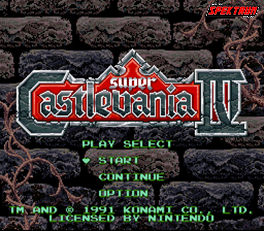 Super Castlevania IV Title Screen