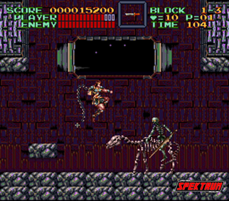 The first level boss. Skeleton riding a skeleton
