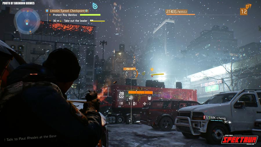 In the thick of it. Gameplay from The Division