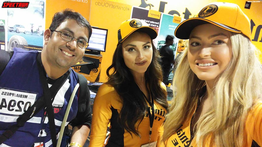 Meeting the models for Continental Tire at the Lifestyle Expo