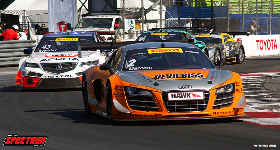 The DeVillebuss / Hawk Performance Audi R8 leads the pack