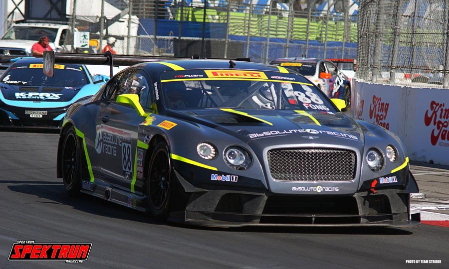 Absolute Racing Bentley Number 88 Rolling Through Turn 10