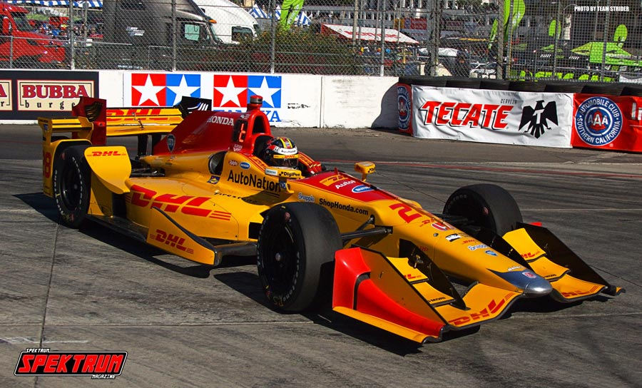 DHL/Andretti Autosport Driver Ryan Hunter-Reay pushing his Number 28 Car