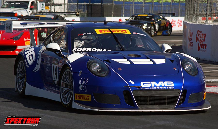 GMG Racing Number 14 James Sofronas during the Pirelli World Challenge Race