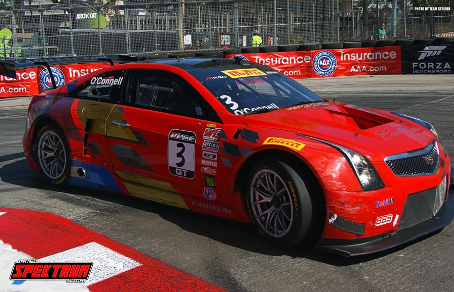 Cadillac CTS-V Driver Johnny O'Connell taking Turn 11