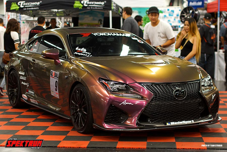 Check out this multi-colored Lexus. A surefire attention grabber
