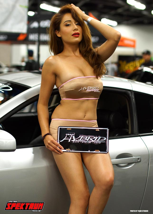 Model Lily Evans breaking hearts for Team Hybrid