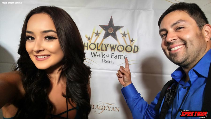Our lovely reporter Hanna and I at the Hollywood Walk of Fame Awards