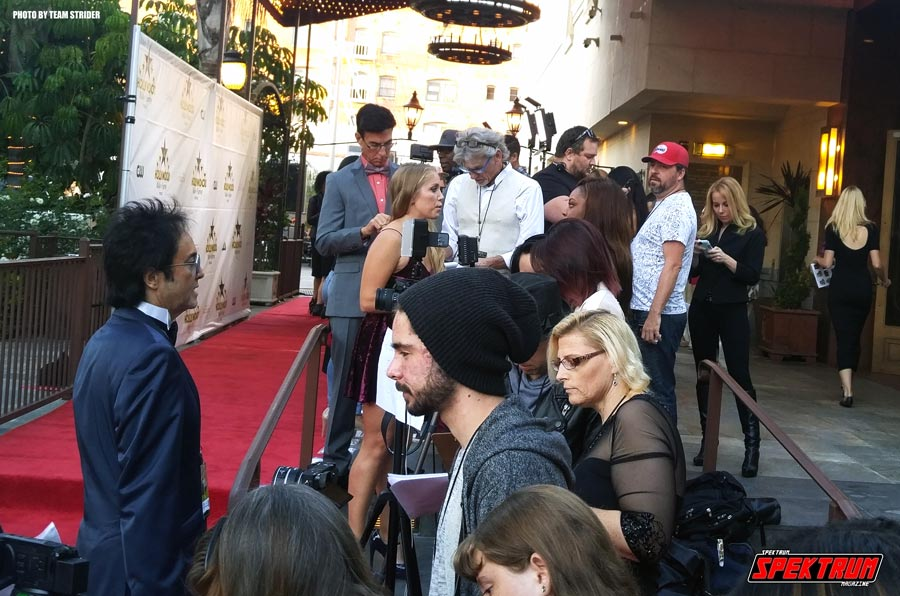 The red carpet was abuzz with excitement before the show