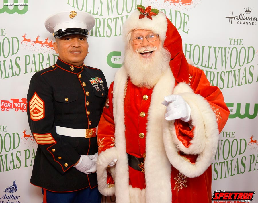 On the Red Carpet With Santa Claus and his Marine friend