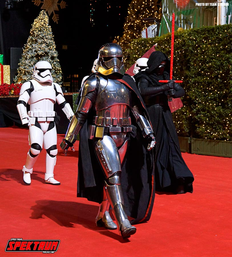 Captain Phasma, Kylo Ren and the First Order on the Parade Carpet