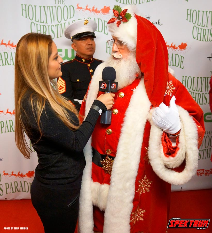 Our reporter Daynie Rivera interviewing Santa Claus