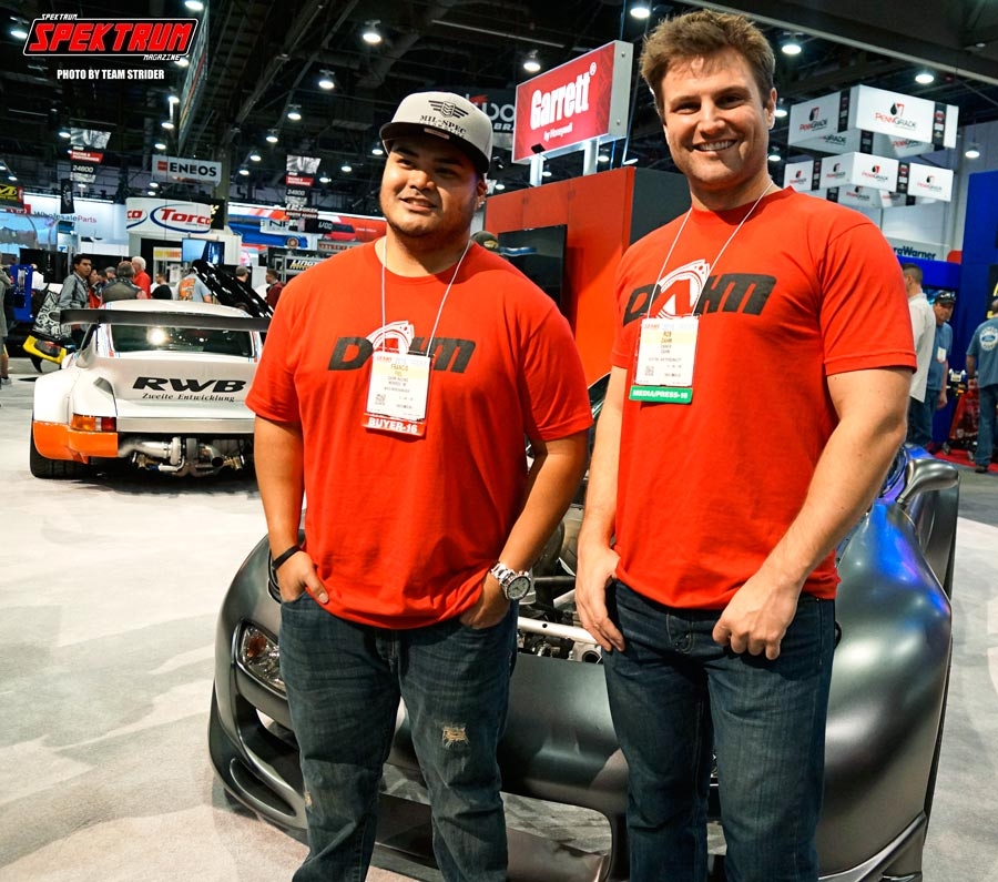 Rob Dahm and friend in front of the beastly 4-rotor RX-7