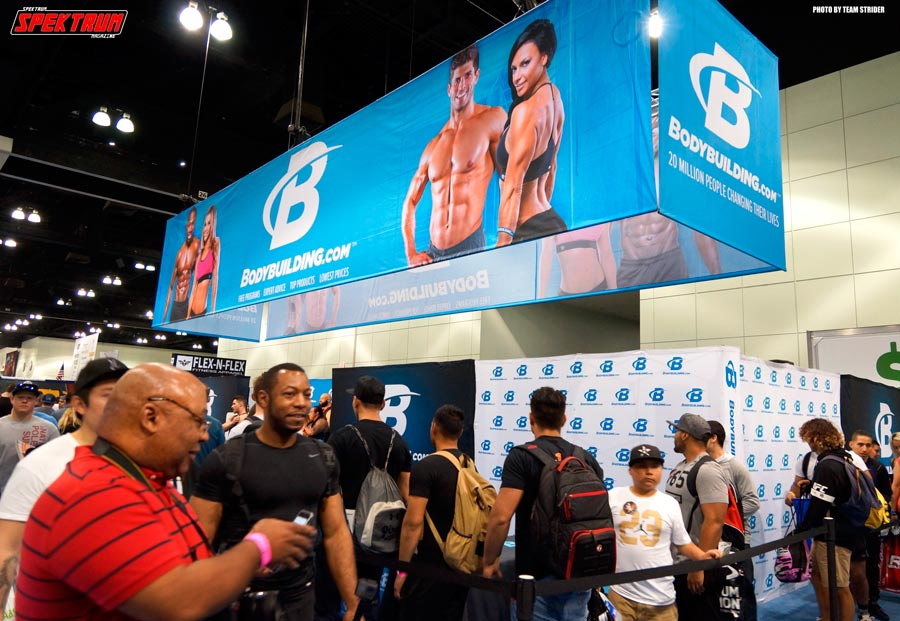 One of the most popular booths at the Fit Expo, Bodybuilding.com