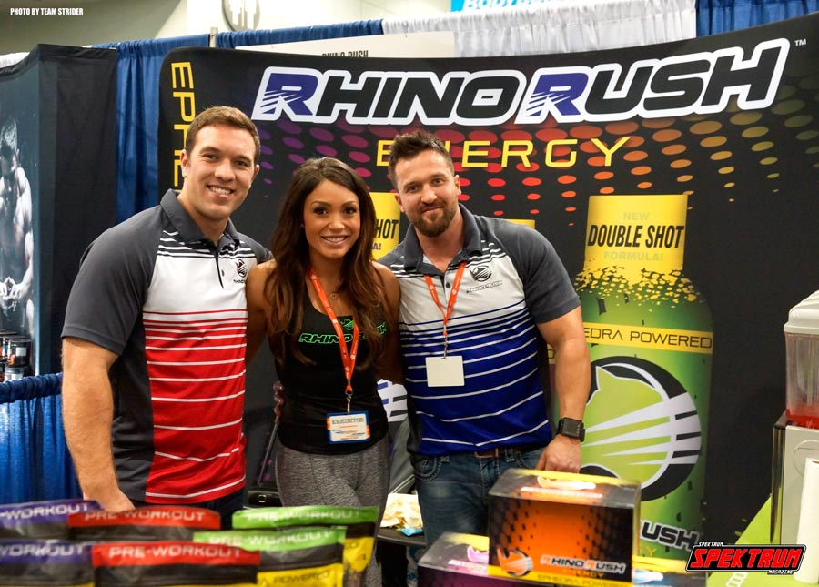 The team of Rhino Rush Energy at the Fit Expo