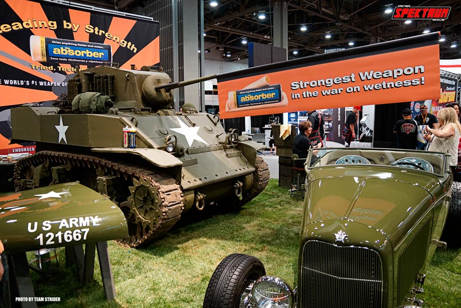 The Absorber had an impressive military themed booth at SEMA