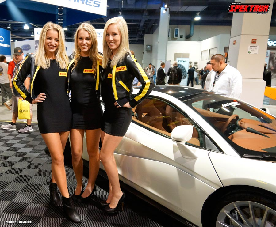 The promotional models for Pirelli Tires